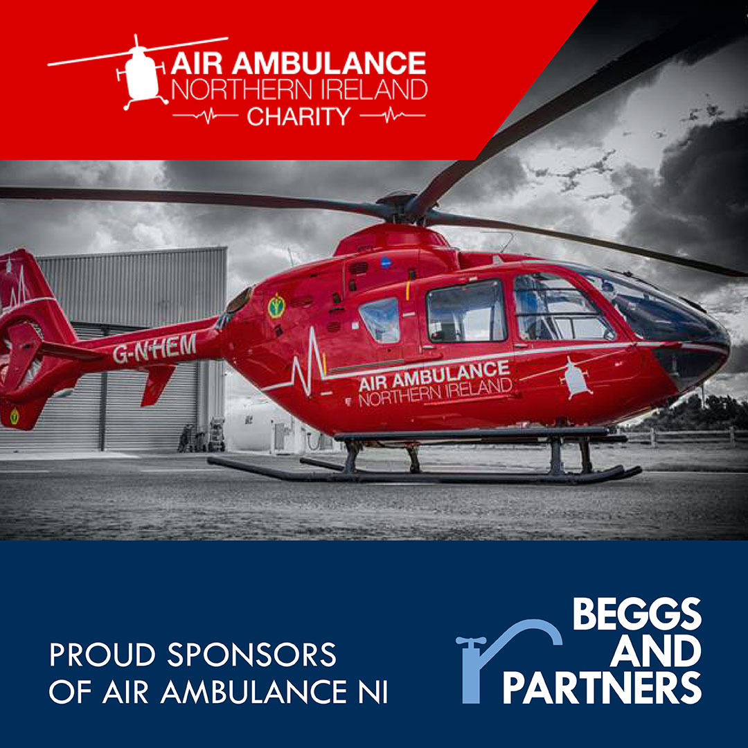 Proud Sponsors of Air Ambulance Northern Ireland