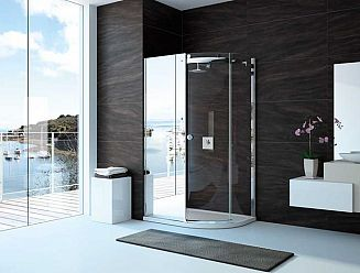 Merlyn 10 series shower enclosure with mirror panel
