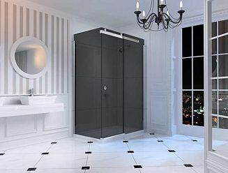 Merlyn black glass shower enclosure