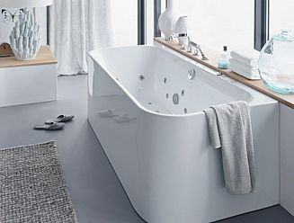 Duravit Happy D2 'Back to wall' bath