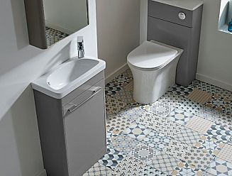 Instinct Ios 500mm wide cloackroom vanity and basin unit