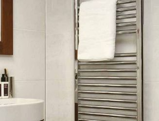 Instinct hot water towel rail