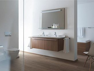 Duravit Starck double basin with vanity unit